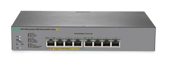 HPE OfficeConnect 1820-8G-PoE+ (65W) Switch #J9982A